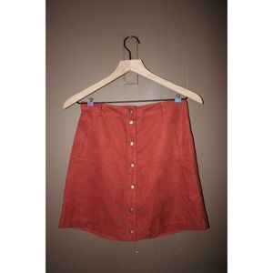 Button down suede like skirt S